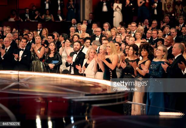 Actors Andrew Garfield Casey AffleckMichelle Williams Busy Philipps Halle Berry Meryl Streep attend the 89th Annual Academy Awards at Hollywood...