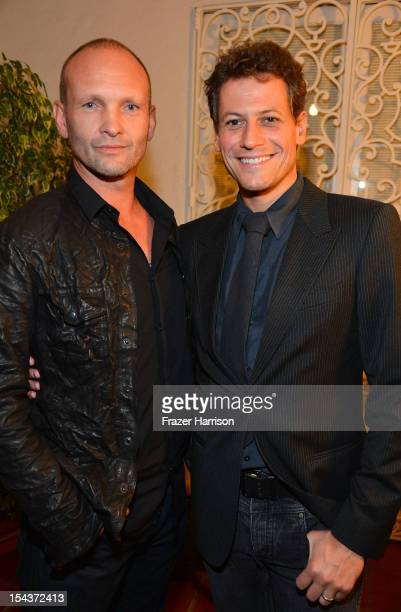 Actors Andrew Howard and Ioan Gruffudd attend Wales Celebrates the launch of The Richard Burton Diaries hosted by The Welsh Government Swansea...