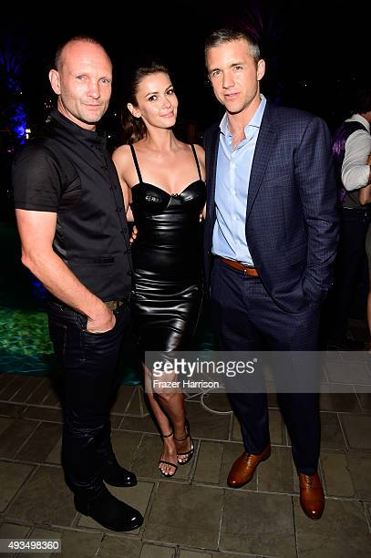 Actors Andrew Howard Olga Fonda and Jeff Hephner attend TNT's Agent X screening at The London West Hollywood on October 20 2015 in West Hollywood...