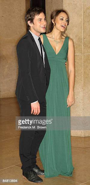 Actors Andrew J West and Amber Stevens attend the 59th Annual ACE Eddie Awards at the Beverly Hilton Hotel on February 15 2009 in Beverly Hills...