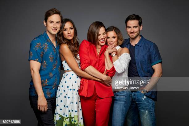 Actors Andrew J West Dania Ramirez Lana Parrilla Gabrielle Anwar and Colin O'Donoghue from Once Upon a Time are photographed for Entertainment Weekly...