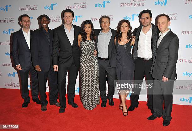 Actors Andrew Lincoln Shaun Parkes Richard Armitage Shelley Conn producer Andy Harries actors Orla Brady Dhafer L'Abidine and Ewen Bremner attend the...