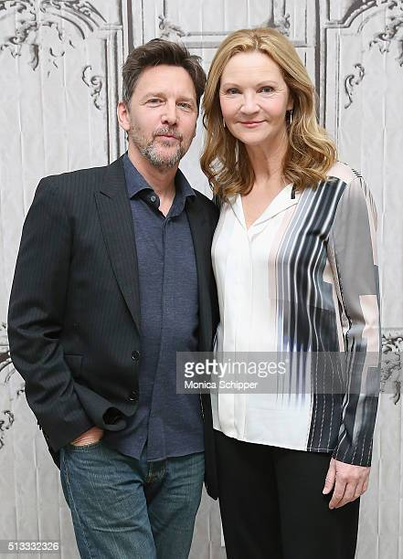 Actors Andrew McCarthy and Joan Allen attend AOL Build Presents The Family at AOL Studios In New York on March 2 2016 in New York City
