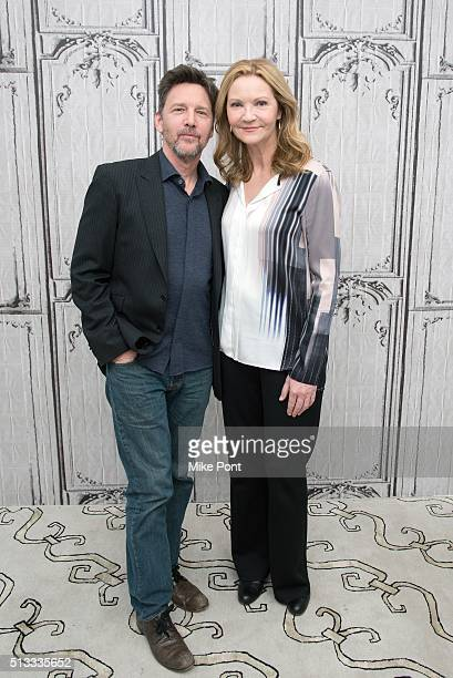 """Actors Andrew McCarthy and Joan Allen attend the AOL Build series to discuss the television series """"The Family"""" at AOL Studios In New York on March..."""