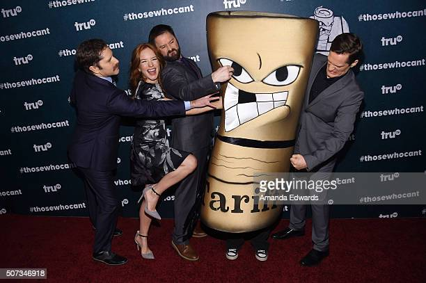 Actors Andrew Orvedahl Maria Thayer Adam CaytonHolland and Ben Roy arrive at the premiere of truTV's Those Who Can't at The Wilshire Ebell Theatre on...