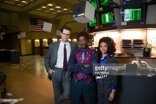 Actors Andrew Rannells Don Cheadle and Regina Hall are photographed for Los Angeles Times on October 17 2018 in Los Angeles California PUBLISHED...