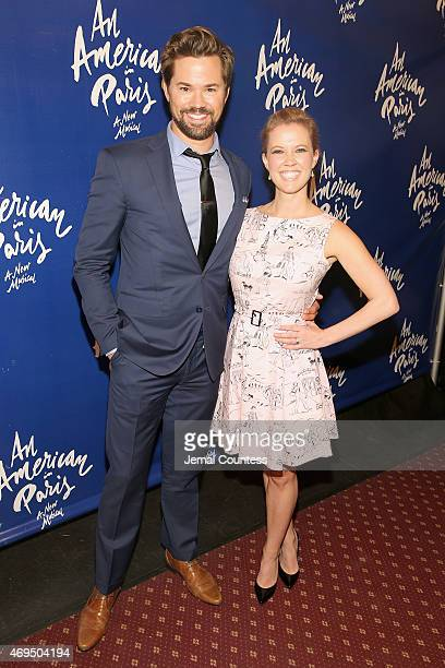 Actors Andrew Rannells Patti Murin attend An American In Paris Broadway opening night at Palace Theatre on April 12 2015 in New York City