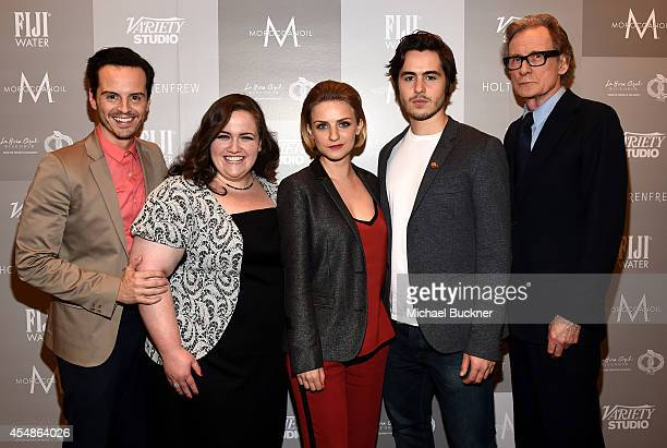 Actors Andrew Scott Jessica Gunning Faye Marsay Ben Schnetzer and Bill Nighy attend the Variety Studio presented by Moroccanoil at Holt Renfrew...