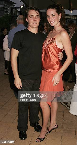 Actors Andrew Supanz and Jolene Anderson attend the Channel Seven Christmas drinks party in Pyrmont on December 13 2006 in Sydney Australia