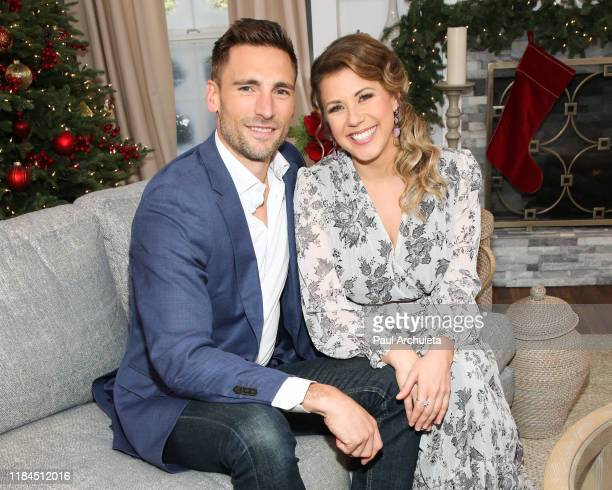 "Actors Andrew Walker and Jodie Sweetin visit Hallmark Channel's ""Home & Family"" at Universal Studios Hollywood on October 30, 2019 in Universal City,..."