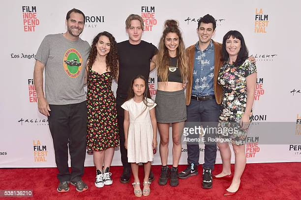 Actors Andy Buckley Remy Teicher Chase Offerle Cruz Donawa codirectors Alexi Pappas and Jeremy Teicher and producer Laura Wagner attend the premiere...