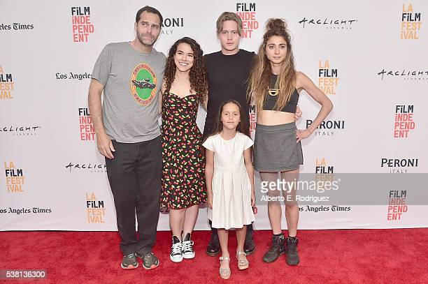 Actors Andy Buckley Remy Teicher Chase Offerle Cruz Donawa and actor/director Alexi Pappas attend the premiere of 'Tracktown' during the 2016 Los...