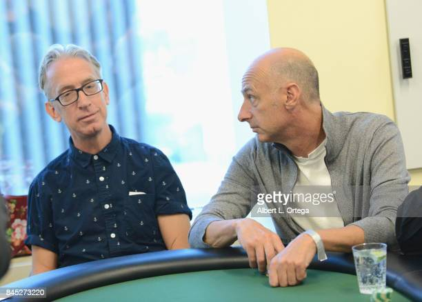 Actors Andy Dick and David Marciano participate in the Ed Asner And Friends Poker Tournament Benefiting Autism Society held September 9 2017 in Los...