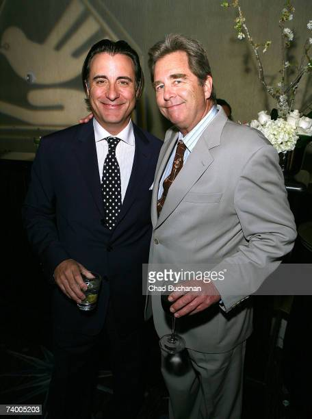 Actors Andy Garcia and Beau Bridges attend the Covenant With Youth Awards Gala at the Beverly Hilton Hotel on April 26 2007 in Beverly Hills...