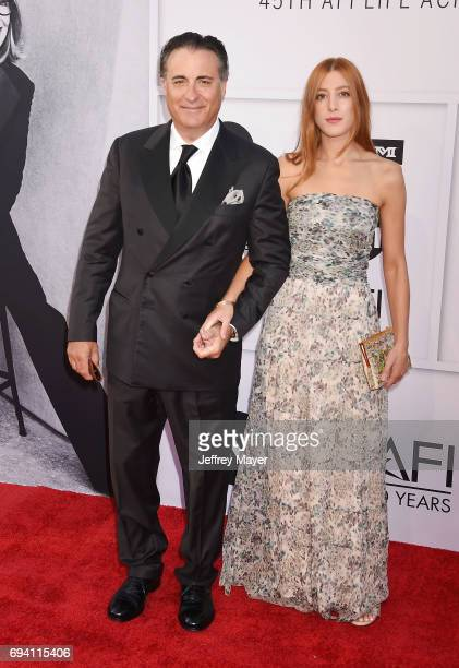 Actors Andy Garcia and Daniella GarciaLorido arrive at the AFI Life Achievement Award Gala Tribute To Diane Keaton at the Dolby Theater on June 8...