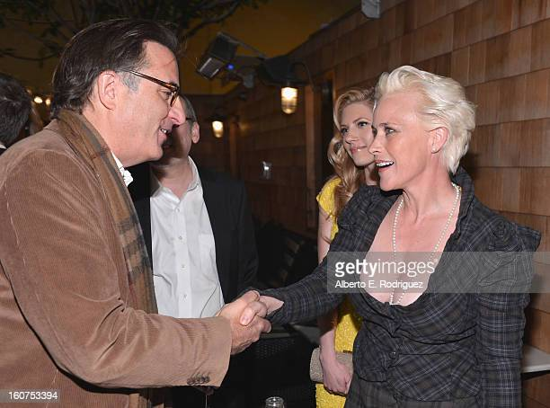 Actors Andy Garcia and Patricia Arquette attend the after party fot the Los Angeles premiere of A24's 'A Glimpse Inside The Mind Of Charles Swan III'...
