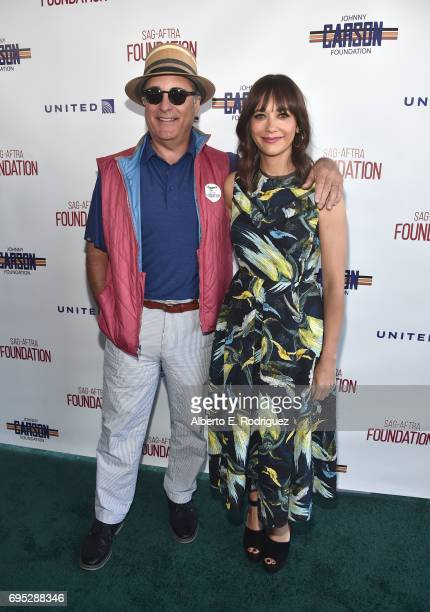 Actors Andy Garcia and Rashida Jones attend the SAGAFTRA Foundation 8th Annual LA Golf Classic Fundraiser at Lakeside Golf Club on June 12 2017 in...