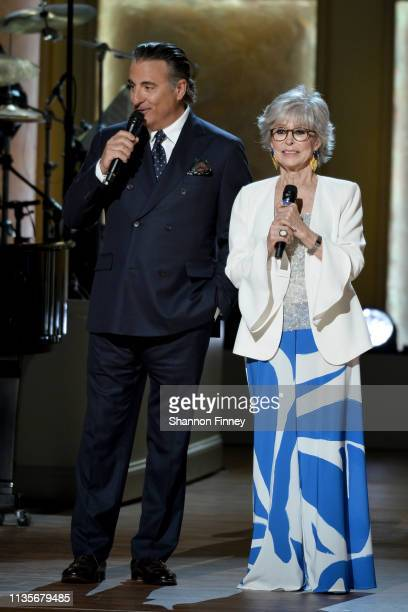 Actors Andy Garcia and Rita Moreno host the 2019 Gershwin Prize Honoree's Tribute Concert at DAR Constitution Hall on March 13 2019 in Washington DC
