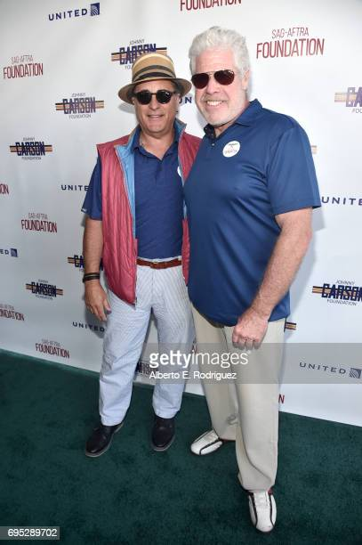 Actors Andy Garcia and Ron Perlman attend the SAGAFTRA Foundation 8th Annual LA Golf Classic Fundraiser at Lakeside Golf Club on June 12 2017 in Los...