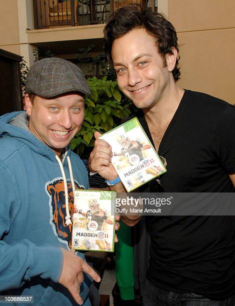 Actors Andy Kozel and Jonathan Sadowski pose at Retro Sport booth during Kari Feinstein Primetime Emmy Awards Style Lounge Day 2 held at Montage...