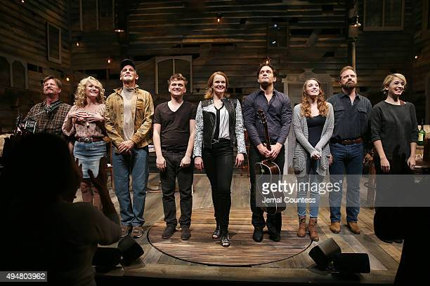Actors Andy Taylor Erin Dilly Bob Stillman Adam Cochran Kate Baldwin Eric William Morris Ephie Aardema Drew McVety and Kacie Sheik take a bow during...