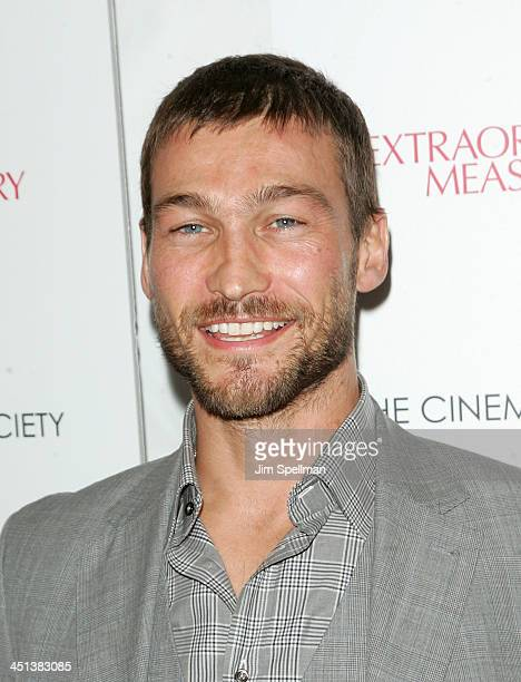 Actors Andy Whitfield attends the Cinema Society with John Aileen Crowley screening of Extraordinary Measures at the School of Visual Arts Theater on...