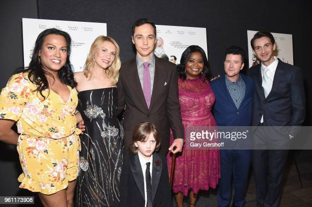 Actors Aneesh Sheth Claire Danes Jim Parsons Leo James Davis Octavia Spencer director Silas Howard and screenwriter Daniel Pearle attend 'A Kid Like...