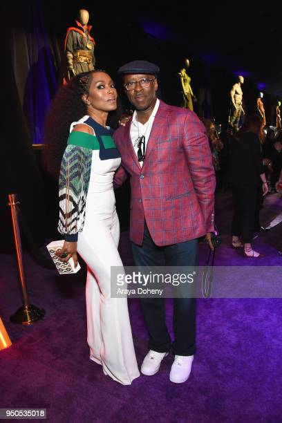 Actors Angela Bassett and Courtney B Vance attend the Los Angeles Global Premiere for Marvel Studios' Avengers Infinity War on April 23 2018 in...