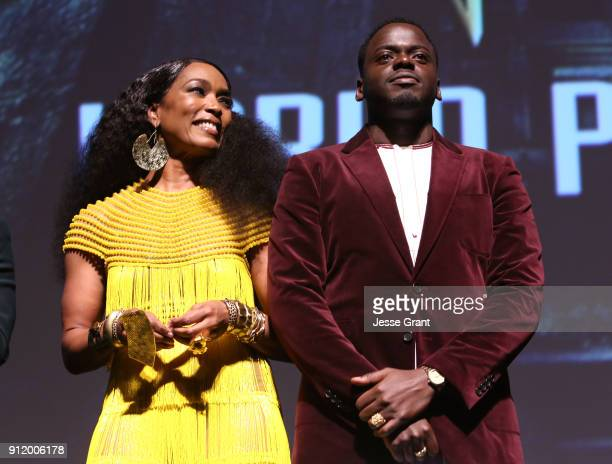 Actors Angela Bassett and Daniel Kaluuya at the Los Angeles World Premiere of Marvel Studios' BLACK PANTHER at Dolby Theatre on January 29 2018 in...
