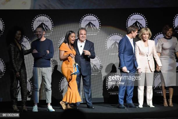 Actors Angela Bassett Simon Pegg Tiffany Haddish Chairman CEO Paramount Pictures Jim Gianopulos actors Tom Cruise Jane Fonda Taraji P Henson and Mary...