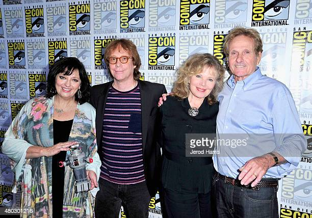 Actors Angela Cartwright Bill Mumy Marta Kristen and Mark Goddard attend 'Lost In Space' Press Room during ComicCon International 2015 at Hilton...