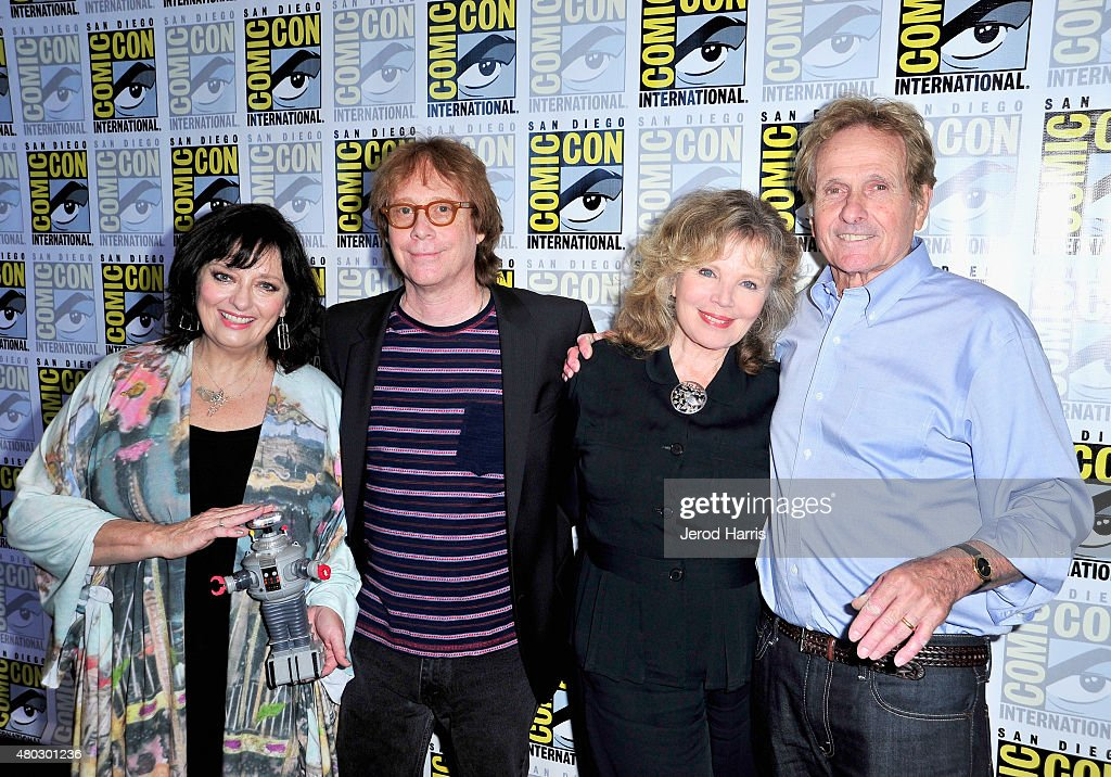 Actors Angela Cartwright, Bill Mumy, Marta Kristen and Mark Goddard attend 'Lost In Space' Press Room during Comic-Con International 2015 at Hilton Bayfront on July 10, 2015 in San Diego, California.