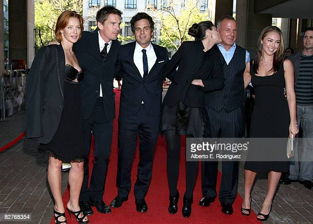 Actors Angela Featherstone Ethan Hawke Mark Ruffalo Amanda Peet director Brian Goodman and Lindsey McKeon arrive at 'What Doesn't Kill You' premiere...