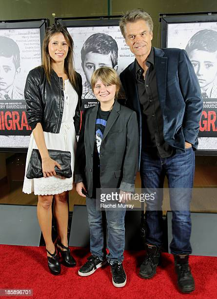 Actors Angela Gots Samuel J Dixon and Harry Hamlin attend the 'Immigrant' Film Premiere at Laemmle's Music Hall 3 on October 25 2013 in Beverly Hills...
