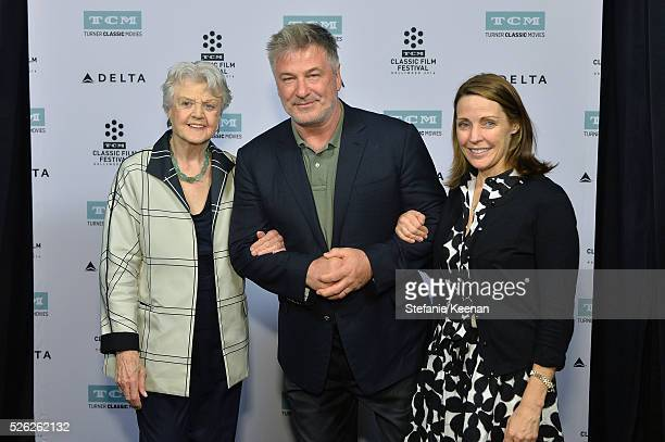 Actors Angela Lansbury Alec Baldwin and General Manager of TCM Jennifer Dorian attend 'The Manchurian Candidate' during day 2 of the TCM Classic Film...