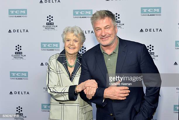 Actors Angela Lansbury and Alec Baldwin attend 'The Manchurian Candidate' during day 2 of the TCM Classic Film Festival 2016 on April 29 2016 in Los...