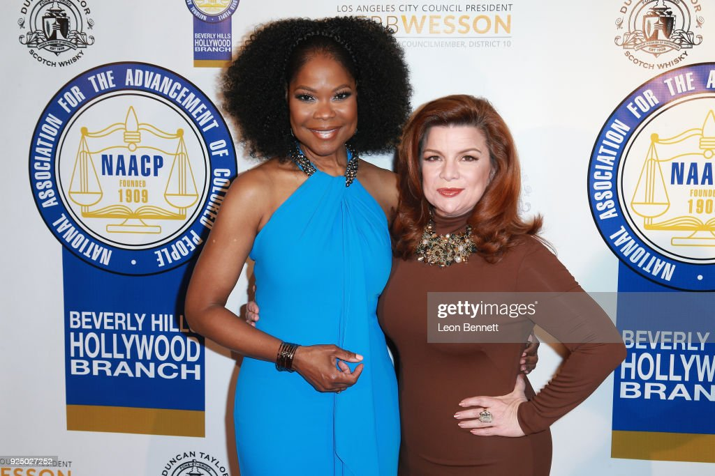 Actors Angela Robinson and Renee Lawless attends the 27th Annual NAACP Theatre Awards at Millennium Biltmore Hotel on February 26, 2018 in Los Angeles, California.