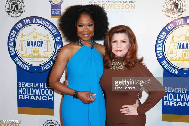 Actors Angela Robinson and Renee Lawless attends the 27th Annual NAACP Theatre Awards at Millennium Biltmore Hotel on February 26 2018 in Los Angeles...