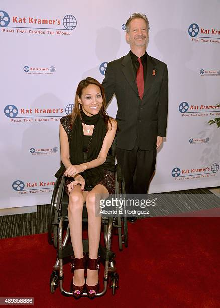 Actors Angela Rockwood and David S Zimmerman attend Kat Kramer's 'Films That Change The World' on April 10 2015 in Hollywood California