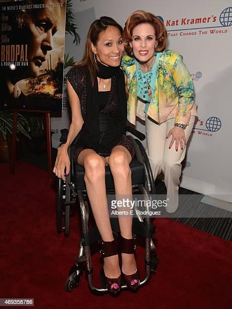 Actors Angela Rockwood and Kat Kramer attend Kat Kramer's 'Films That Change The World' on April 10 2015 in Hollywood California
