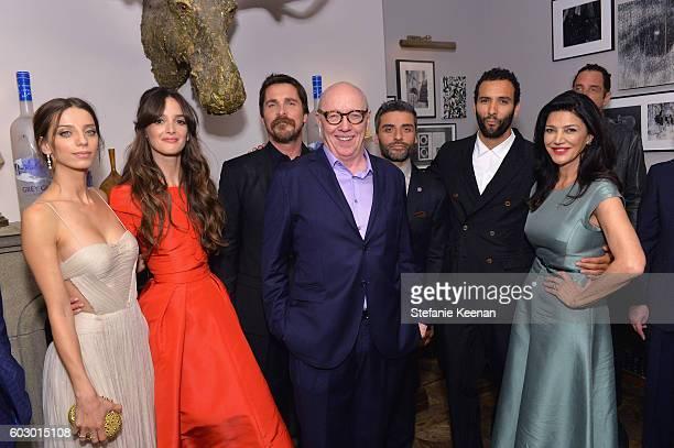 Actors Angela Sarafyan Charlotte Le Bon Christian Bale director Terry George actors Oscar Isaac Marwin Kenzari and Shohreh Aghdashloo at the The...