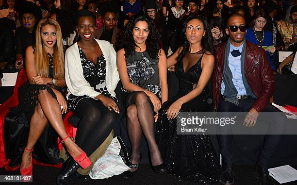 Actors Angela Simmons Adepero Oduye Sarita Choudhury Tashiana Washington and Eric West attend the Vivienne Tam show during MercedesBenz Fashion Week...