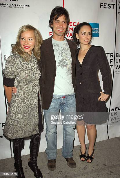Actors Angelica Blandon Aldemar Correa and Ana de La Reguera attend the premiere of Paraiso Travel during the 2008 Tribeca Film Festival on April 26...
