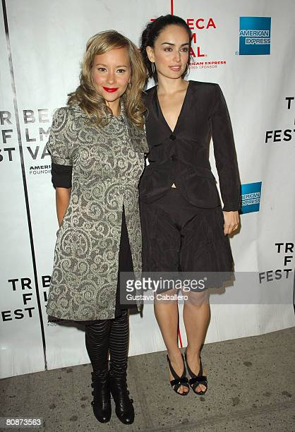 Actors Angelica Blandon and Ana de La Reguera attend the premiere of Paraiso Travel during the 2008 Tribeca Film Festival on April 26 2008 in New...