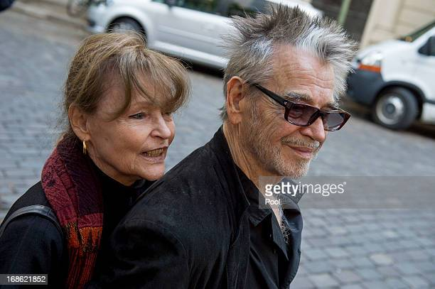 Actors Angelica Domroese and Hilmar Thate attend the screening of the 1973 film Die Legende von Paul und Paula at the Filmkunst 66 cinema on May 12...