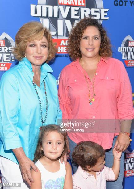 Actors Angelica Maria Angelica Vale and families attend the world premiere of Marvel Universe Live Age Of Heroes at Staples Center on July 8 2017 in...
