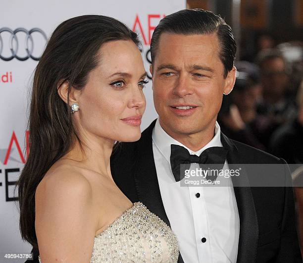 Actors Angelina Jolie and Brad Pitt arrive at the AFI FEST 2015 presented by Audi Opening Night Gala Premiere of Universal Pictures' By The Sea at...