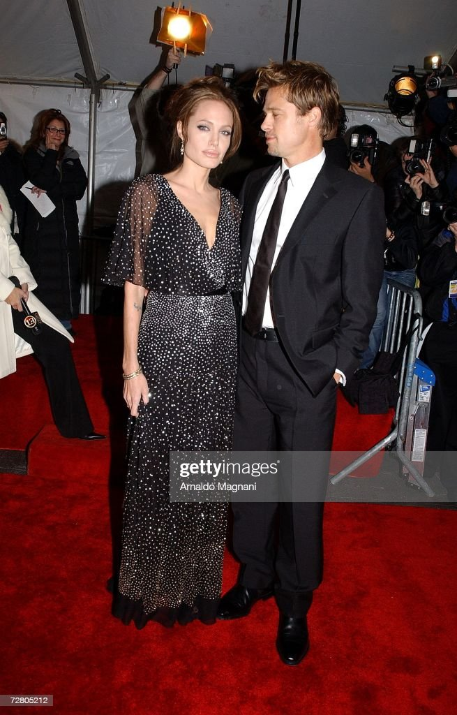 Actors Angelina Jolie and Brad Pitt arrive at the World Premiere of ''The Good Shepherd'' presented by Universal Pictures at the Ziegfeld Theatre on December 11, 2006 in New York City.