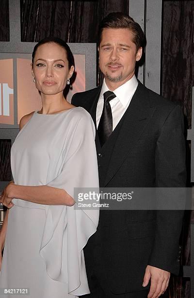 Actors Angelina Jolie and Brad Pitt arrive at VH1's 14th Annual Critics' Choice Awards held at the Santa Monica Civic Auditorium on January 8, 2009...