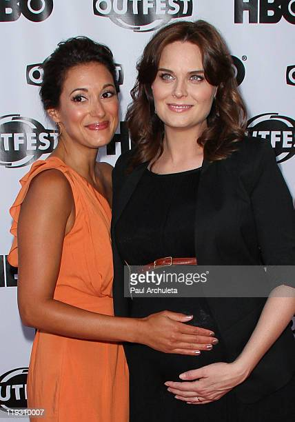 Actors Angelique Cabral and Emily Deschanel arrive at the 29th annual Gay Lesbian Film Festival closing night gala at the John Anson Ford...